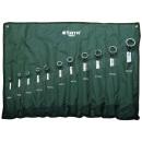 SATA/世达 公制全抛光高颈双梅花扳手组套 SATA-08023 11件 6-32mm 挂袋 销售单位:套