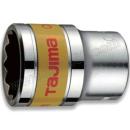 """TAJIMA/田岛 1/2""""系列十二角公制短套筒 1504-1015 19mm 销售单位:只"""