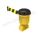 SAFEWARE/安赛瑞 诱导柱伸缩隔离带 11721 黄/黑 带长9m 1个 销售单位:个