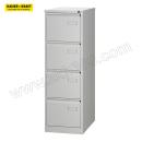 K+K/皇加力 悬挂式文件柜,单轨 755366 4个抽屉,A4横向,浅灰色 1个 销售单位:个