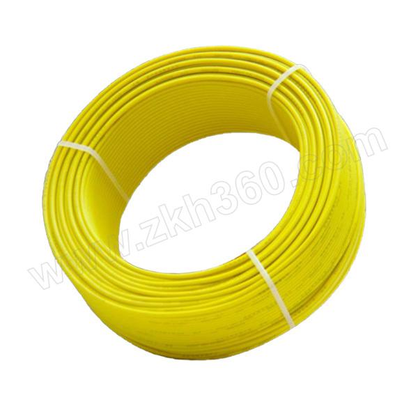 QIFAN/起帆 铜芯聚氯乙烯绝缘B级阻燃耐火连接软电线 ZBN-RV-0.6/1kV-1×6 黄色 1米 销售单位:米