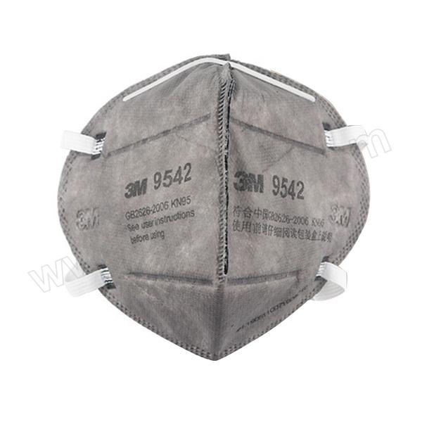 3M 折叠式有机蒸气异味及防颗粒物口罩 9542 KN95 头戴式 1个 销售单位:个
