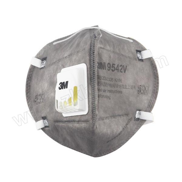3M 折叠式有机蒸气异味及防颗粒物口罩 9542V KN95 头戴式 带阀 1个 销售单位:个