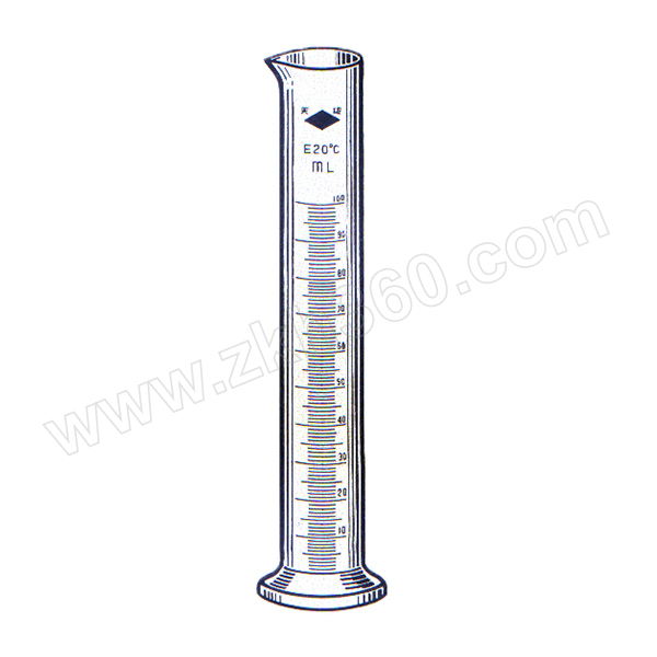 TIANBO/天玻 量筒(量入式IN) 50mL 1mL 6个 1盒
