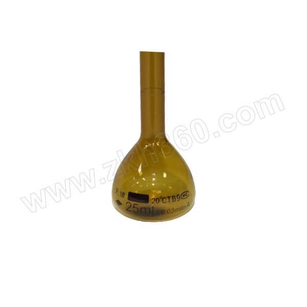 TIANBO/天玻 容量瓶(棕A级)量入式IN 25mL 10个 1盒