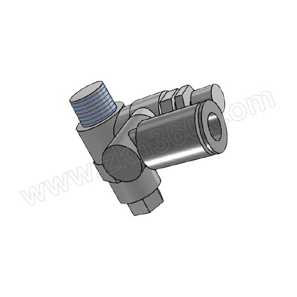 SMC ASP系列带先导式速度控制阀 ASP430F-02-08S 万向型 快插接口8mm 外螺纹Rc1/4 1个