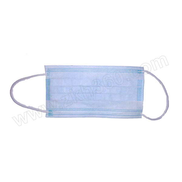 ZKH/震坤行 一次性口罩  蓝色 蓝色 50个 1盒