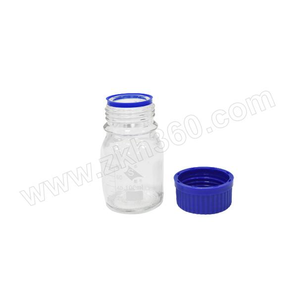 SHUNIU/蜀牛 中性料丝口试剂瓶 100mL 透明 20个 1盒