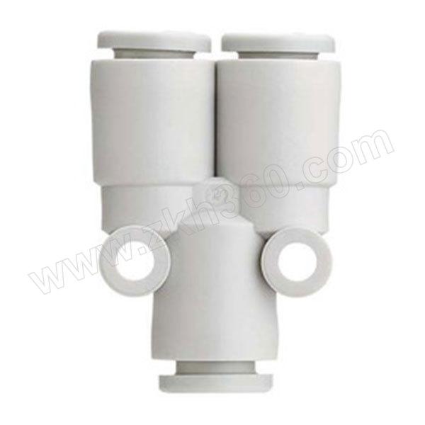 SMC KQ2U系列Y形三通接头 KQ2U08-00A 塑料接头 快插8mm-快插8mm-快插8mm 1个