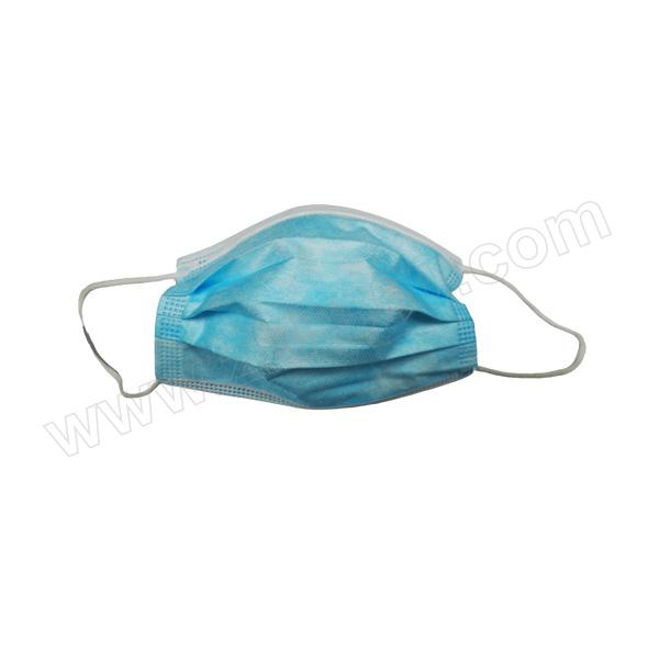 ZKH/震坤行 医用外科口罩 蓝色 耳挂式 3层 10个 1包