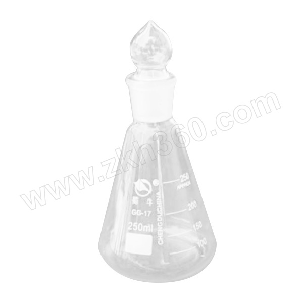 SHUNIU/蜀牛 具塞三角烧瓶(标口) 250mL 24# 1个