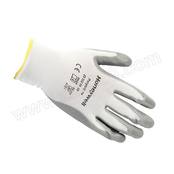 HONEYWELL/霍尼韦尔 尼龙丁腈涂层工作手套 2232230CN 10码 灰色涂层 1包