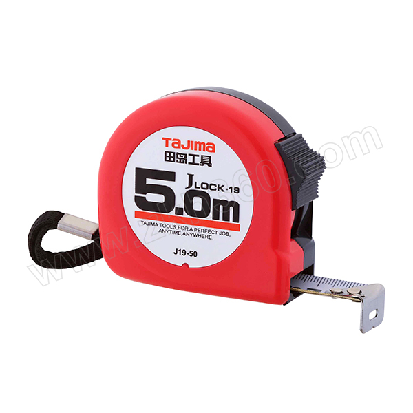 TAJIMA/田岛 J-LOCK型卷尺 1001-0055 5.0M×19mm 手动锁定 1把