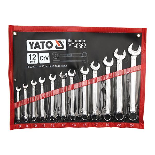 YATO/易尔拓 两用扳手组套(12件) YT-0362 12件 8-24mm 1套