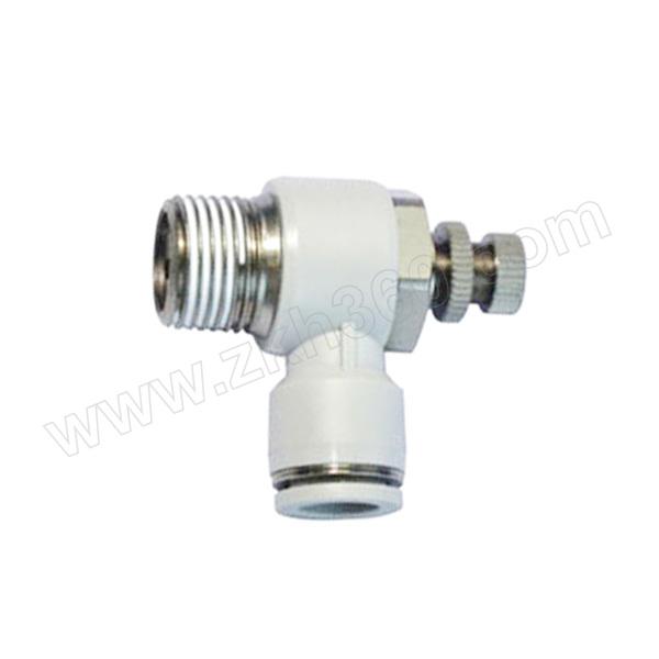 SMC AS-F系列速度控制阀 AS1201F-M5-06 A 弯型 快插接口6mm 外螺纹M5 1个
