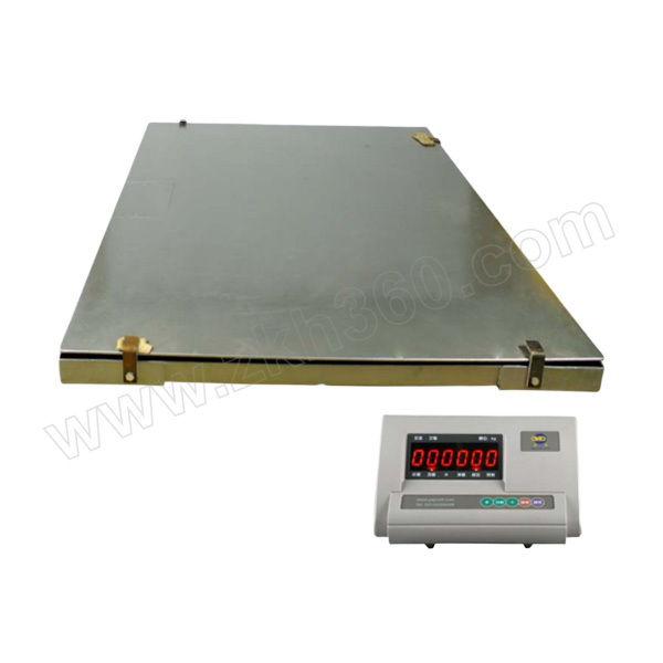 YJ/亚津 不锈钢双层电子地磅 SCS-P772A-SS-5T-1515 量程5000kg 精度2000g 秤盘尺寸1500×1500mm 1个