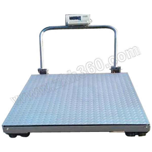 YJ/亚津 不锈钢包边手推移动地磅 SCS-P722-NS-21515 量程2000kg 精度500g 秤盘尺寸1500×1500mm 1个