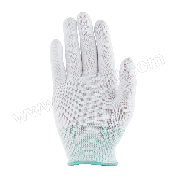 ZKH/震坤行 尼龙针织手套 尼龙手套 绿色腕 M 1副