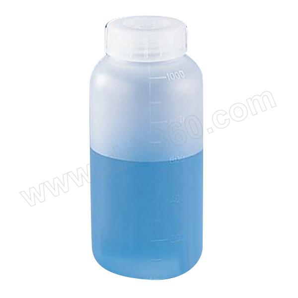 AS ONE/亚速旺 塑料瓶 (细口) 1L 5-001-05 瓶体 瓶盖/PP(聚丙烯)耐热温度:121℃ 蒸气杀菌温度:130℃ 漏水测试已合格有刻度 1L 1个