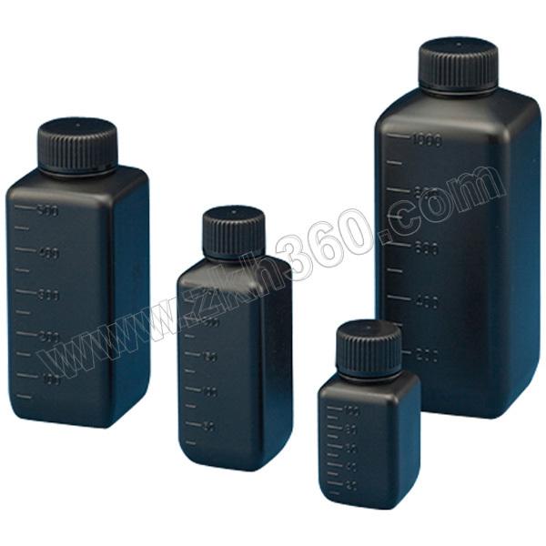 AS ONE/亚速旺 PE瓶(方形遮光已灭菌)500ml 15-6303-55 500mL 窄口 100个 1箱