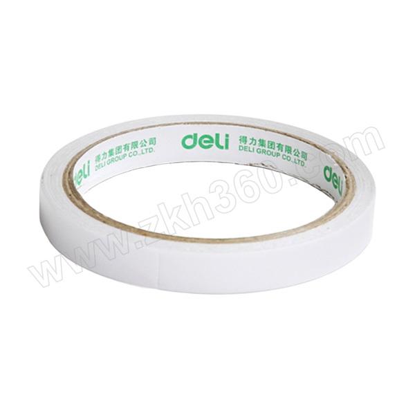 DELI/得力 棉纸双面胶带 30405 10y×12mm 白色 1袋