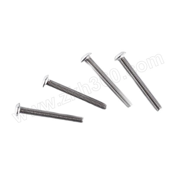 ZKH/震坤行 ISO7380 内六角平圆头螺钉 不锈钢304 A2-70 本色 211607003000600000 M3×6 1个