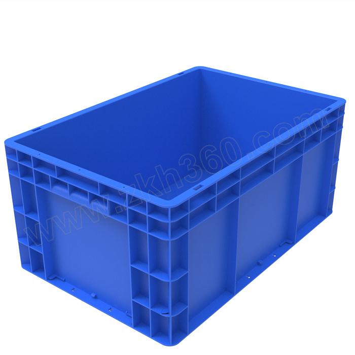 TRIPOD KING/鼎王 EU周转箱 EU4628 外尺寸600×400×280mm 内尺寸555×355×260mm蓝色 无盖 1个