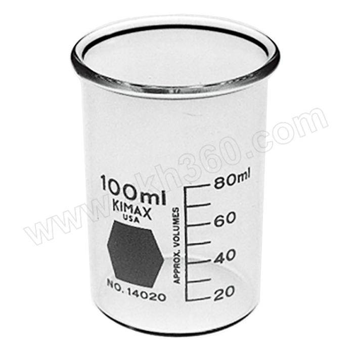 KIMBLE/肯堡 无具嘴玻璃高型烧杯 14020-300 300mL 64×118mm 1个