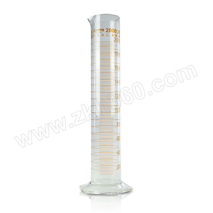 WITEG 玻璃量筒 3715200 2000±10mL 1个